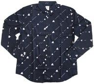ディグダ&ダグトリオストライプ graniphロングスリーブシャツ ブラック Lサイズ 「ポケットモンスター」 ポケモンセンター限定