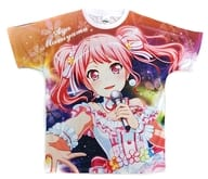 """Aya Maruyama full-color T-shirt free size """"BanG Dream! Pastel * Palettes special performance-Marumaru mountain coloring special ☆-"""""""