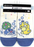 "Kodak & Nyoromo Short Socks Kodak has no energy. Blue×Cream 23-25cm ""Pokémon"" Pokemon Center Limited"