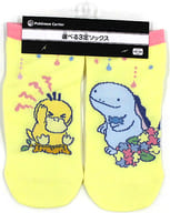 "Kodak & Nuo Short Socks Kodak has no energy. Yellow 23-25cm ""Pokémon"" Pokemon Center Limited"