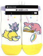 "Kodak & Yadon Short Socks Kodak has no energy. Yellow x cream 23-25cm ""Pokémon"" Pokemon Center limited"