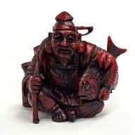 Ebisu (red) 「 Fukujin Netsuke 」