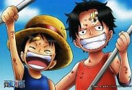 """Luffy & Ace (Childhood) """"One Piece Magnet Collection Gum DX 2"""""""