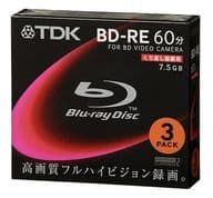 BD-RE 8cm 7.5GB 3 sheets pack [BEC75A3S] for TDK video camera recording