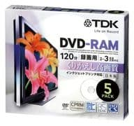 TDK Recording DVD-RAM 3 x 4.7 gb 5-Pack [DRAM120DPB5U]