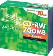 CD-RW for Mitsubishi Data, 4 x Speed, 700 MB, 10 Packs [SW80QU10]