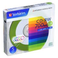 Mitsubishi data CD-RW VERBATIM 700MB 5 sheets pack [SW80QM5V1]