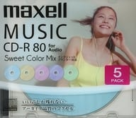 Hitachi Maxell Recording CD-R Swt color Mix 700 mb 5-Pack Pack [CDRA80PSM. 5S]