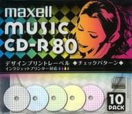 Hitachi Maxell Recording CD-R 700 mb Design Print Label 10-Pack Pack [CDRA80PMIX. S1P10S]
