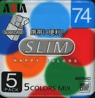 Mini Disc for AXIA Recording SLIM HAPPY COLORS 74 min 5 Pack Pack [MD HCA M74 x 5 pc]