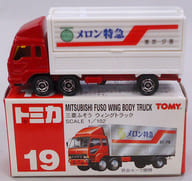 "1/102 Mitsubishi Fuso Wing Truck Melon Express (Red x White / Red Box) ""Tomica No.19"""