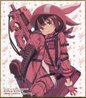 """Sword Art Online Alternative Gun Gale Online """"Dengeki Bunko MAGAZINE 10th Anniversary Trading Mini Shikishi"""" Dengeki Bunko 25th Anniversary Autumn Dengeki Festival Goods"""