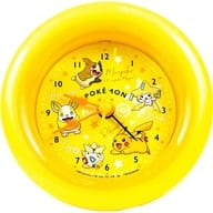 Colors (Yellow) round alarm clock 「 Pocket Monsters 」