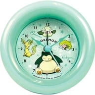 Colors (green) round alarm clock 「 Pocket Monsters 」