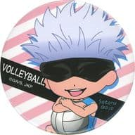 Satoru Gojo / Volleyball / Background Stripe 「 Sorcery Fight Bukatsu Series metal badge (Baseball / Volleyball) 」