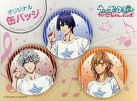 "HIjirikawa Masato & Jinguji Ren & Kurosaki Ranmaru original cans badge (3 pieces set) """" Lawson × song ☆ prince Sama '♪ Maji LOVE Revolutions """