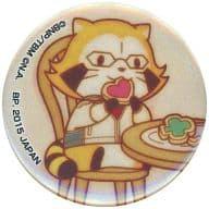 Lascăr (Cookie / Burnaby) metal badge Mini Character Irusutoresonzu 「 Ichiban KUJI Mini TIGER&BUNNY -The Rising - ×RASCAL metal badge Omi KUJI 」