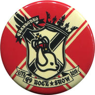 Granrodeo Roger (Background : Red Cream Cross) Can Batch (metal badge) 「 Granrodeo LIVE 2014 G9 ROCK ☆ SHOW 」 Rodeo Gacha Premium
