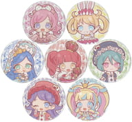 "7-Variety Set ""Kiratto Pri Chan metal badge 09 Wonderland ver. Mini Character"""
