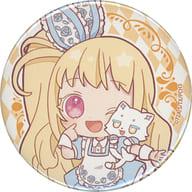 Alice Peperoncino,' Kiratto Pri Chan metal badge 10. Wonderland ver. Mini Character'