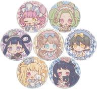 Set of 7 types' Kiratto Pri Chan metal badge 10. Wonderland ver. Mini Character'