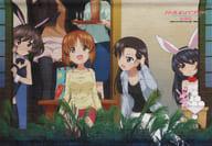 "-Bunny and Moon Viewing ver.- Japanese B2 Tapestry Series ""Girls & Panzer"" Dengeki G's Magazine & G's Comic September 2018 Magazine Online Goods"
