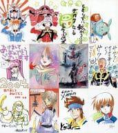 Gundam Ace Original Postcard 12-Piece Set Gundam Ace February 2004 Supplement
