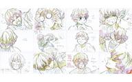 Agatsuma Zenitsu exhibition original picture postcard 12-piece set 「 Demon Slayer: Kimetsu no Yaiba Character Picture Scroll Cafe in ufotable Cafe stage IV 」