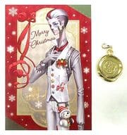 Shiromujo (Hsieh 必安) Postcard with Metal Charm 「 Identity V Fifth Personality WINTER PARTY in Ikebukuro Loft 」 Purchase benefits