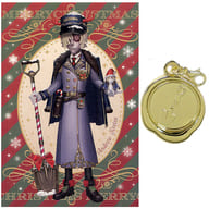 Grave keeper (Andrew Cress) post card with metal charm 「 Identity V Fifth Personality WINTER PARTY in Ikebukuro Loft 」 Purchase benefits