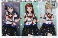 Sayoko Takayama & Kinyo Tanaka & 朋花 Tenkubashi Special Postcard 「 idol Master MILLION LIVE! Shea ターデイズ 4 th ANNIVERSARY in Akihabara 」 Target Product Purchase benefits