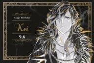 Kei Birthday Special Postcard 「 Blackstar -Theater Starless - 2 nd Anniversary Ani-Art fair in Animate 」 Goods Purchase benefits