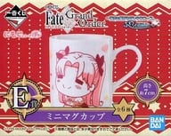 "Lancer / Ereshikkigaru / Archer / Ishtar Mini Mug Cup Mojirizu Poya ""Ichiban Kuji Fate / Grand Order-Santa Claus running in the night sky, fluffy appearance!-"" Prize E"