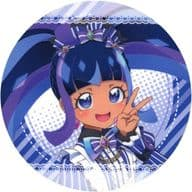 Daia (Black / Non-Fatty) Coaster 「 Pretty Series 10 th Anniversary x Prism Stone Cafe 6 th Daia in Idol time PriPara 」 Drink Order Special