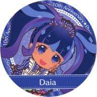 Daia (Black / Mini Character) Coaster 「 pretty series 10 th Anniversary x Prism Stone Cafe 6 th Dai in Idol time PriPara 」 Drink Order Special