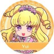 Yumekawa Yui (Mini Character) Coaster 「 Pretty Series 10 th Anniversary x Prism Stone Cafe 6 th edition Daia in Idol time PriPara 」 drink order privilege