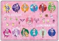 01. Pink Graph Art Design Character Clear Case 「 Angelique Luminarise 」