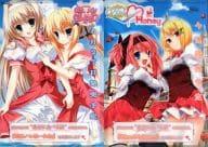 Kinko Akiyama & Arisu Komatsukawa / Kikora Ohno & Kyoseitsuru Un-A4 Clear File 「 Harehaare Haeru / Hime no chi Honey 」 DreamParty Osaka 2008 spring distribution