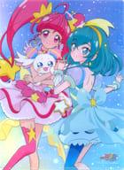 キュアスター&キュアミルキー A4クリアファイル 「スター☆トゥインクルプリキュア」 アニメージュ 2019年7月号付録
