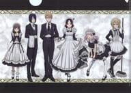 """Get-together (Maid & Butler ver.) Drawn illustration A4 clear file """"Kaguya-sama wa Kokurasetai? ~ Genius's love brain battle ~"""""""