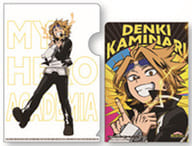 Kaminari Denki 「 MY HERO ACADEMIA Trading Mini Clear File 」 with postcards