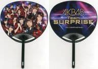 Team Surprises (Gravity Sympathy) Fans (Back Side : Neon Pattern) 「 CR Pacinko AKB48 」 Handouts