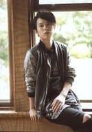 Ryo Hirano / Above the Knee / Costume Gray / Sitting / Left Hand Knee / Chin Up / Window Seat / 「 Ryo Hirano 2016 Calendar Launch Event 」 Official photo