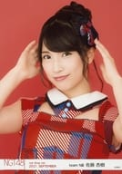 Anju Sato / Bust up / Costume red / blue / NGT48 Theater Trading Official photo 2017. September net shop limited version.