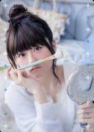 "Inori Minase / Costume White / Right Hand Brush / Left Hand Palette / ""Inori Minase LIVE TOUR 2018 BLUE COMPASS"" Goods Purchase Bonus Inori Minase Special Trading Card ""MINACA"""