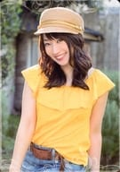 "Mizuki Nana / on the knee · costume orange · denim · blue · hat / ""LIVE GRACE 2019 - OPUS III -"" Venue limited goods purchase privilege Memorial Card ""NANACA"""