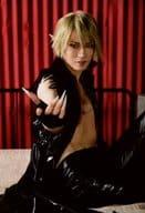 Shuji Hayashi (雀呂) / Knee-high, Costume Black, Right Facing, Sitting, Hand Drawer, Background Red, Character Actor Shot / 「 Saiyuki Opera Story - Reload - 」 Togengo Bromide